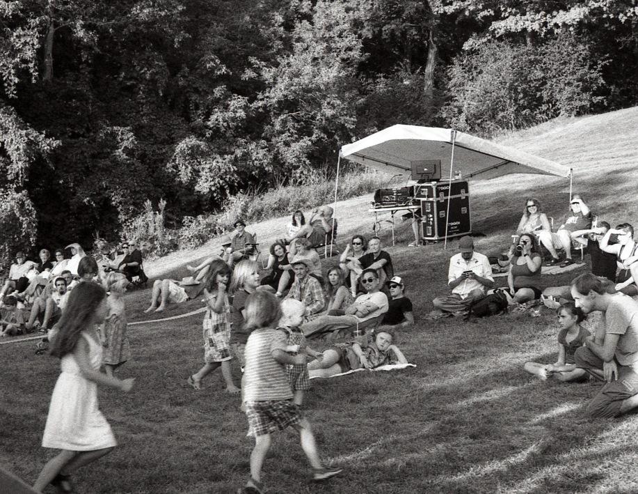Dancing Kids at the Folk Festival